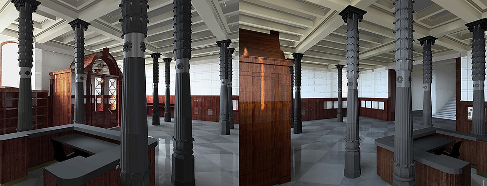 Interior Lighting Project of historic building entrance