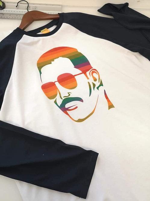 Adult XL Freddie Mercury Freddie Fox & Retro Baseball tee