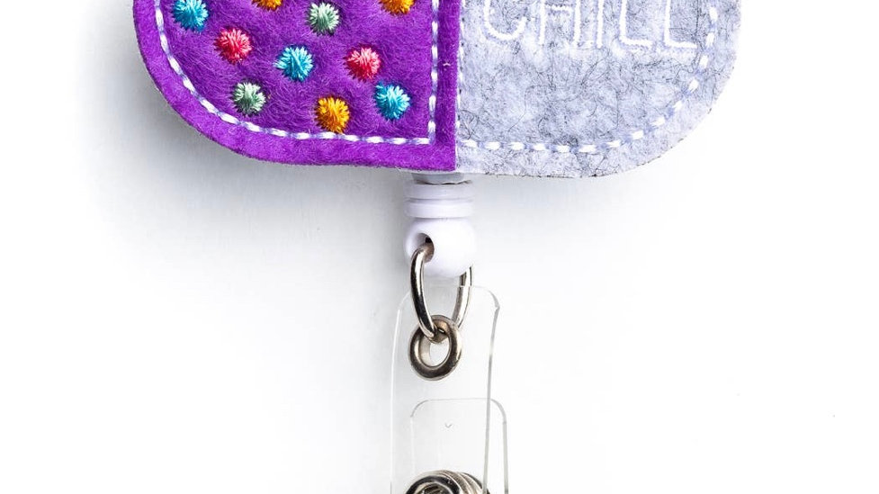 CHILL PILL Badge Reel Holder