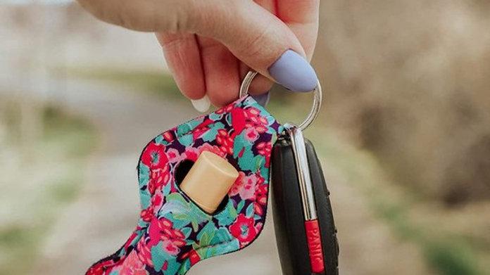 Handmade Neoprene Chapstick Holder Keychain