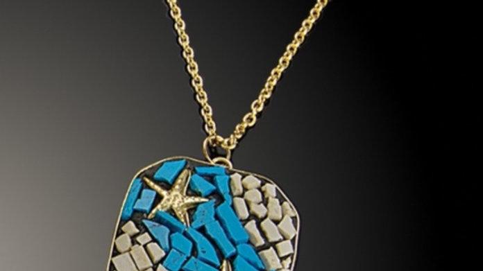 Artisan Created Mosaic Starfish Necklace