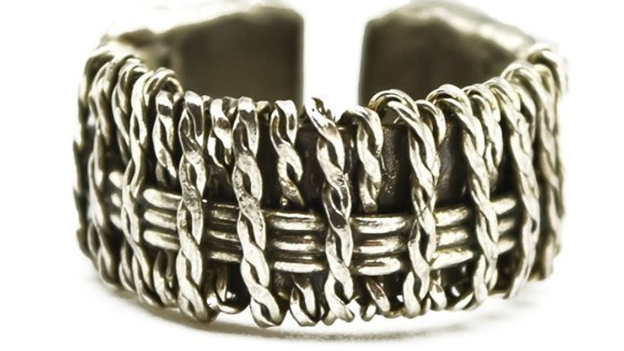 Anju Handcrafted Basketweave Ring