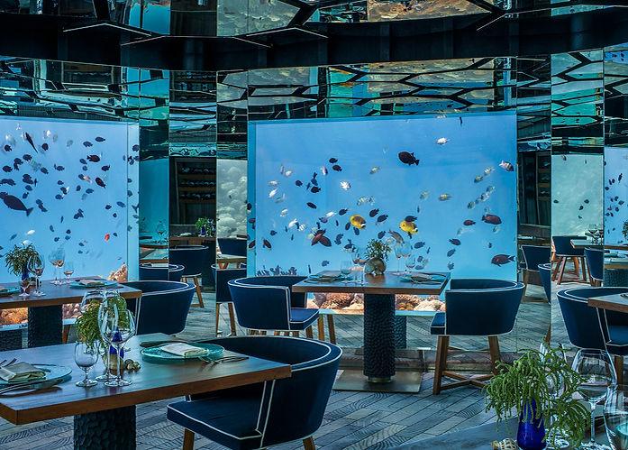 Sea underwater restaurant, Anantara Kihavah