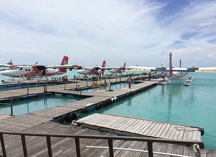 Maldives seaplane transfer
