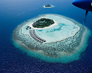 Maldives island and lagoon