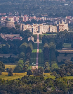 Windsor Castle, the Long Walk and the Copper Horse, Berkshire,