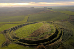Barbury Castle is an Iron Age hill fort situated in Wiltshire England-1