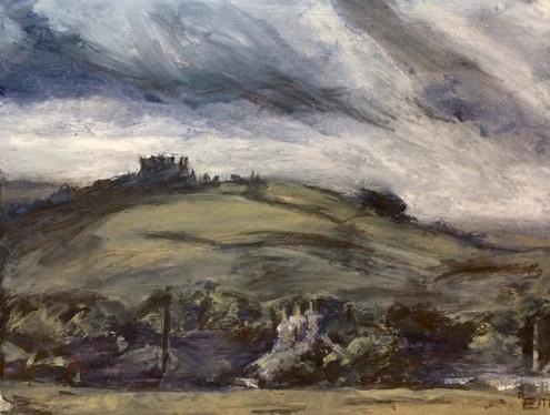 Castell Carreg Cennen Sitting on the Hilltop 2 - SOLD