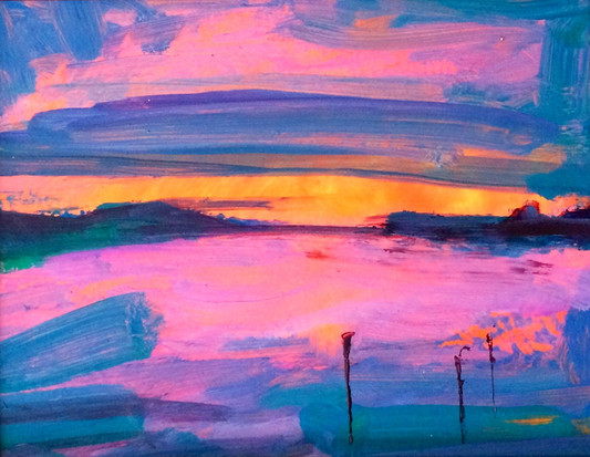 Oystermouth Sunrise - SOLD