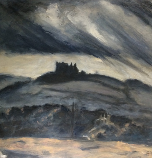 Castell Carreg Cennen late Winter Afternoon - SOLD