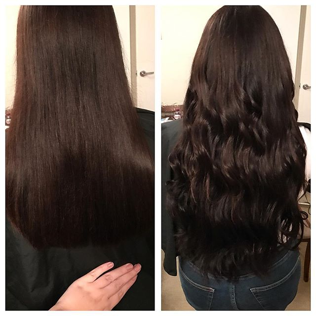 _danathwaitesx beautiful shiny hair 💁🏼💇 #hairinspo #hairextensions #surreyhairdresser #brunette #
