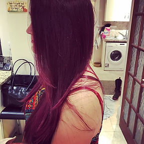 Old highlights to purply red #halloweenready 👻
