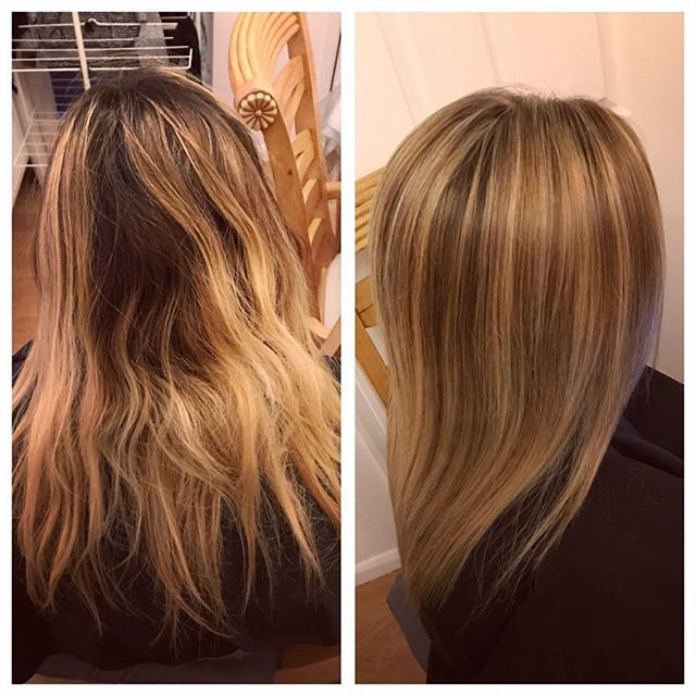 💫Cooler toned down tones for gabby 💇 #hairinspo #highlights #behindthechair #hairstyles #hair #hai