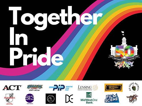 Iowa City Pride Yard Sign 2020