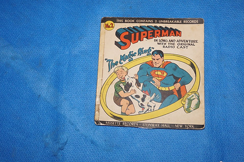1947 Superman - The Magic Ring Record And Book Set By Musette Records