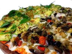 Pizza Vegetariana e Abobrinha