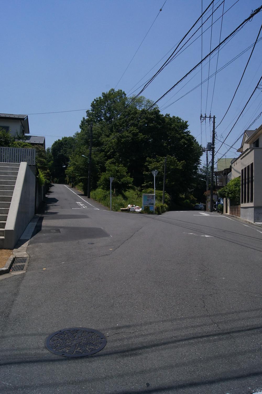 鶴川のY字路