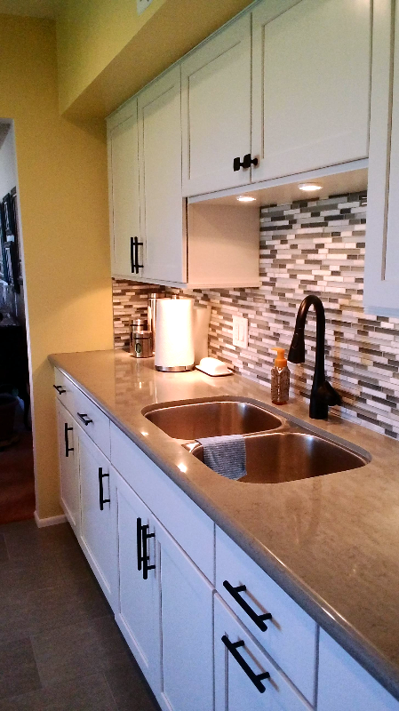 Subway Tile Backsplash Kitchen Remodel Mr. Fix It of Sierra Vista