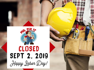 LABOR DAY: CLOSED
