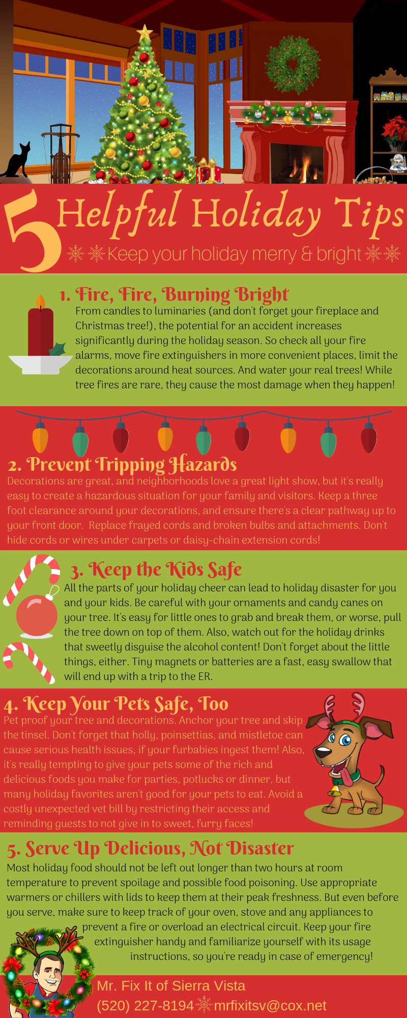 5 Helpful Holiday Tips Infographic