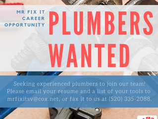 APPLY NOW: Plumbers Wanted
