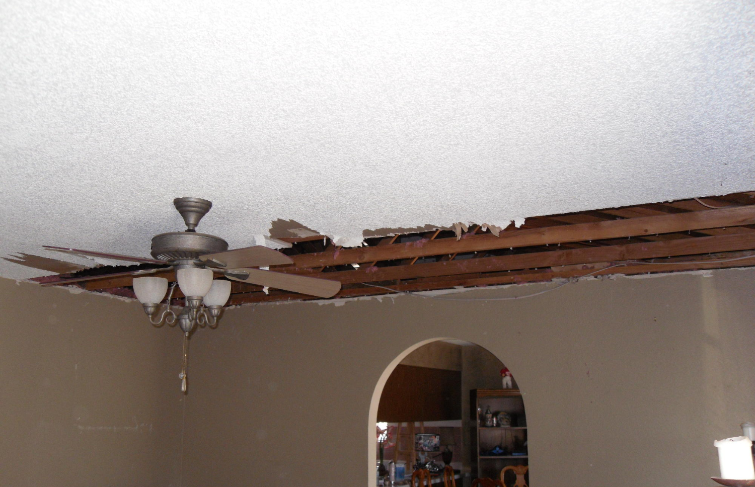 Damaged Ceiling Before