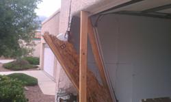 Exterior Garage Damage Before