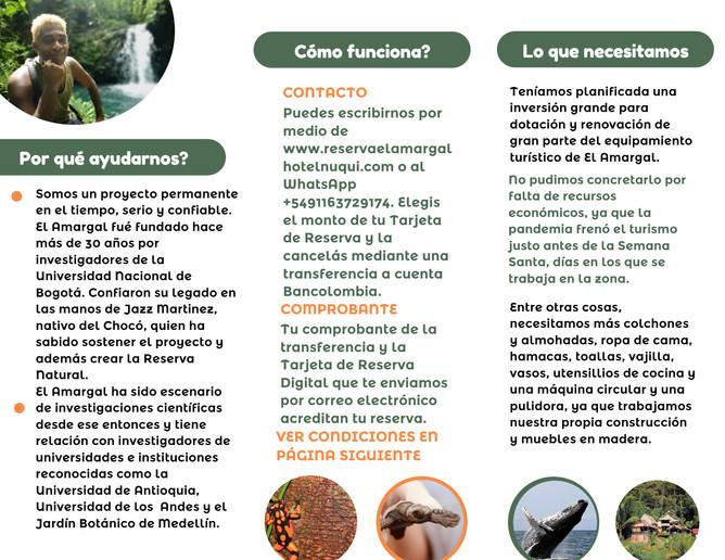 Tarjetas de Reserva Adelantada El Amargal 2