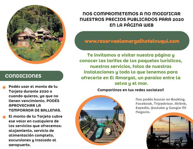 Tarjetas de Reserva Adelantada El Amargal 3