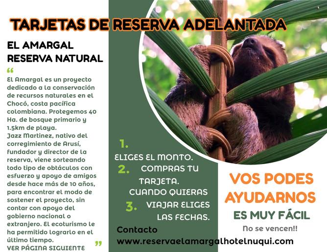Tarjetas de Reserva Adelantada El Amargal 1