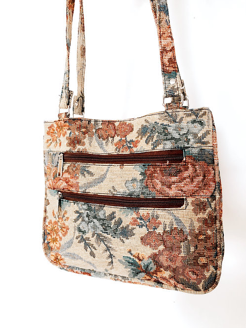 90's Floral Canvas Satchel