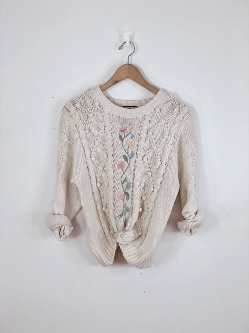 90's Floral Sweater