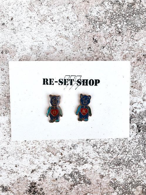 OK Bears Enamel Pins