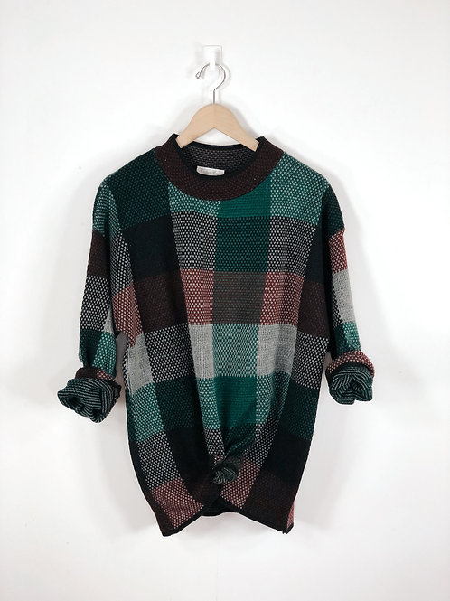 90's Color Block Sweater