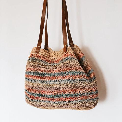90's Woven Rainbow Bag