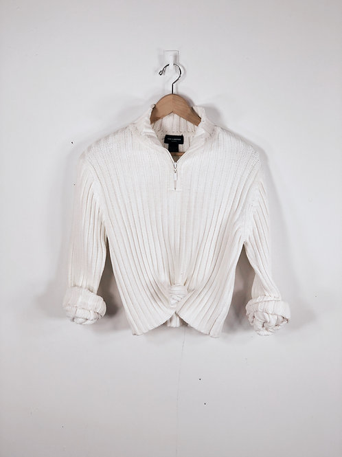 Ribbed Half Zip Sweater