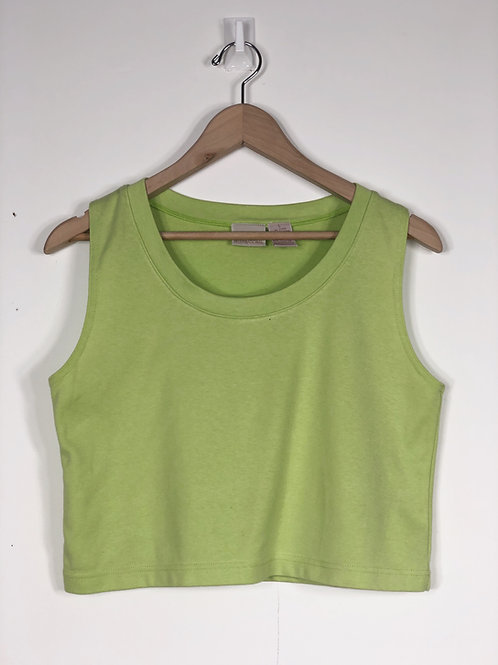 Lime Faded Crop Tank