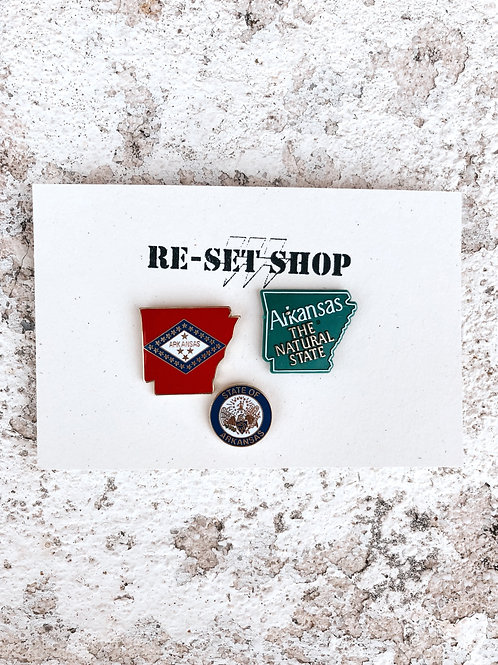 Arkansas Enamel Pins