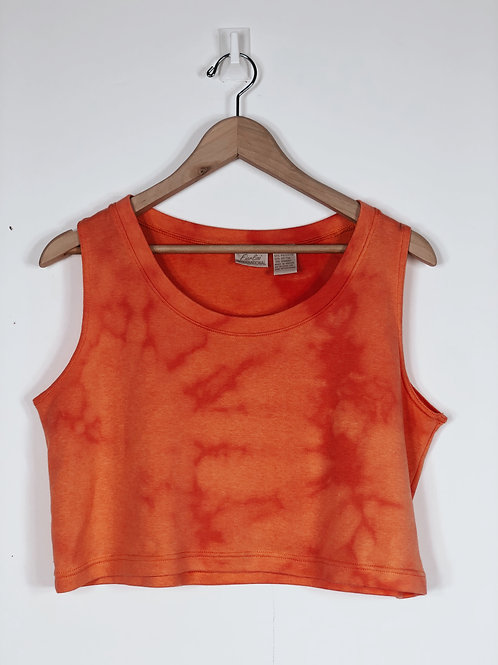Salmon Faded Crop Tank