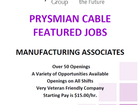 Prysmian Cable has Over 50 Openings!