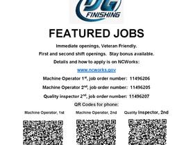 Featured Jobs - TSG Finishing