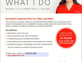 Bayada - Immediate Opportunities for CNAs and HHAs