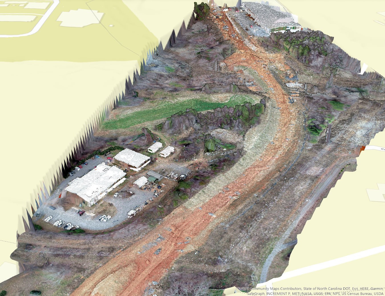 Hickory - 3D Model of Construction at Sweet Rd Extension