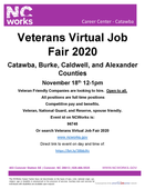 Veterans Virtual Job Fair 2020 - November 18, 12 - 1 PM