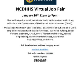 NC Department of Health & Human Services Job Fair