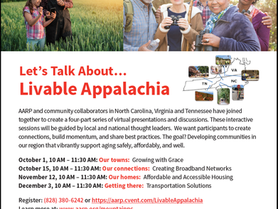 AARP - Let's Talk About Livable Appalachia