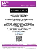 Williams-Sonoma, Inc. Onsite Recruitment Event
