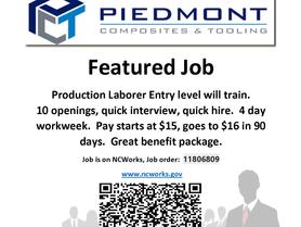 Piedmont Composites & Tolling Feature Job