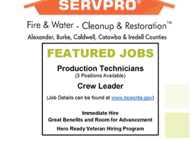 Servpro - Featured Jobs - 3 Positions Available!
