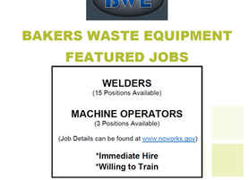 Bakers Waste Equipment is Now Hiring